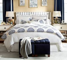 Pearl Embroidered 280-Thread-Count Duvet Cover & Sham #potterybarn (in gray mist)