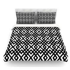 East Urban Home Dijagonala by Trebam Geometric Featherweight Duvet Cover Size: King