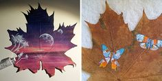 Maple Leaves Left In A Box For 15 Years Became Canvases For My Art | Bored Panda