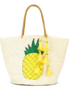 pineapple print tassel detail tote $441 #Farfetch #shopping #PartyClothing