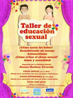 ¡Abrimos nueva fecha para el Taller de educación sexual! La fecha es este 29 de septiembre.  #educacion #sexualidad #niños