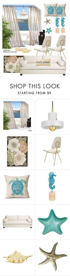 """""""Beach house by the sea"""" by felicitysparks ❤ liked on Polyvore featuring interior, interiors, interior design, home, home decor, interior decorating, Tom Dixon, Nourison, Midwest of Cannon Falls and Nordstrom Rack"""