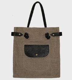 Hemp & Leather Tote Bag by Mei Vintage on Scoutmob Shoppe