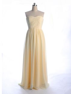 5852156280 Floor Length A-line Pastel Yellow Bridesmaid Dress Blue Bridesmaid Gowns