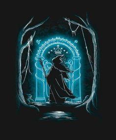 Speak friend and enter Gandalf Lord Of Rings, Lord Of The Rings Tattoo, Speak Friend And Enter, Gandalf Tattoo, Elvish Tattoo, Midle Earth, Lotr Trilogy, O Hobbit, Jrr Tolkien