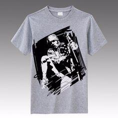 New arrival Guns N' Roses Axl Rose hand drawing style Men's new skinny slim summertime British style #Affiliate