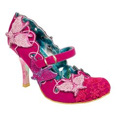 Irregular Choice Swallowtail Heeled Shoes (Pink) I love these shoes they are absolutely beautiful! And girly shame the heel is to high for me Xx