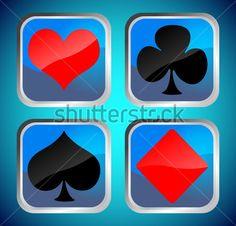 siluetas cartas de poker - Buscar con Google
