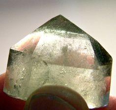 Green Chlorite Phantom Crystal Point by Krystalins on Etsy, $10.00