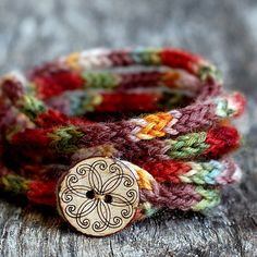 Cute little I-cord bracelet made out of fingering yarn.