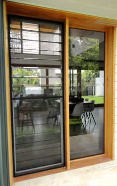 Timber & Glass Louvres add a touch of elegance to your home. Louvre Doors, Louvre Windows, Home Interior Design, Interior Styling, Timber Windows, Modern Front Door, Dining Room Inspiration, New Home Designs, Window Design