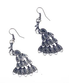 Peacock Drop Earrings   ZAKVI