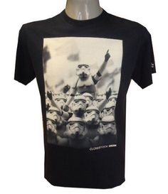 Star Wars Clonestock Stormtrooper T-Shirt (Black / Navy Blue - Size M)