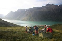 wild camping in jotunheimen, norway