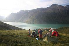 wild camping in jotunheimen, norway