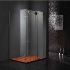 "Vigo 36"" x 60"" Frameless 3/8inch Clear/Chrome Shower Enclosure #kitchensource #pinterest #followerfind"