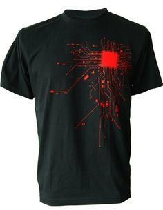 SODAtees Mens COMPUTER CPU CORE HEAT Geek T-Shirt
