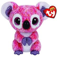 e6a1ceb137a Pyoopeo Ty Beanie Boos Kacey the Pink Koala Plush Regular Soft Big-eyed  Stuffed Animal Collection Doll Toy(China)