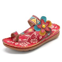060fe3f98e3  US 53.59  SOCOFY Genuine Leather Soft Sandals  socofy  genuine  leather    · Women s Shoes SandalsFlat ...