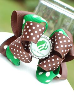 Girl Scouts Brownies Daisy Scouts Bottlecap Hairbow Scouting Bow