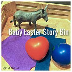 Baby Easter Story Bin from @maureenspell