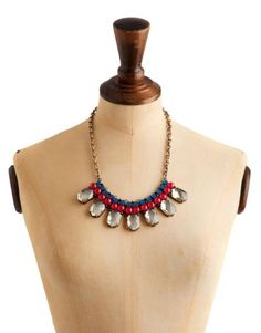 Joules Oriana Womens Statement Necklace in Glass was £34.95 NOW £9.95 FREE DELIVERY