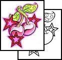 star Tattoos, cosmic Tattoos, celestial Tattoos, cherry Tattoos, fruit Tattoos, feminine Tattoos, pretty Tattoos, shoulder Tattoos,