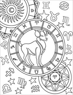 Aries Zodiac Sign coloring page from Star signs category. Select from 32012 printable crafts of cartoons, nature, animals, Bible and many more. Mandala Coloring Pages, Free Coloring Pages, Coloring Books, Colouring, Zodiac Signs Colors, Zodiac Star Signs, Astrology Signs, Zodiac Capricorn, Zodiac Art