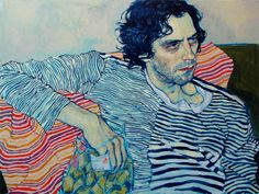 Hope Gangloff es una pintora que representa la cotidianidad que se manifiesta en situaciones que viven los jóvenes, desde leer hasta el sexo y las drogas.