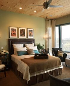 Bedroom Solid Pine Wood Bedroom Light Green The Best Bedroom Wall Colors Contemporary Bedroom Ceiling Panel And Dark Brown Pleat Bed Valance Astounding Bedroom Design Ideas That You Will Make You Fall In Love