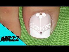 Toe Nail Designs, Love Nails, Pedicure, Nail Art, Youtube, Nail Arts, Pretty Nails, Work Nails, Flower