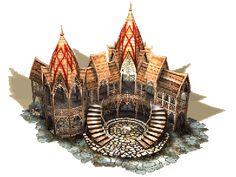 SpellForce JoWooD Productions Buildings artwork Minecraft architecture Lotr elves