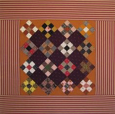 Doll quilt top, great stripe border, wonderful colors