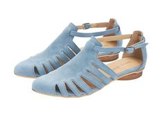 light blue sandals Alice Flats Leather Sandals by TamarShalem