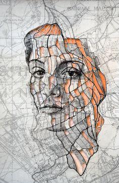 Portraits Drawn on Maps by Ed Fairburn – Fubiz Media