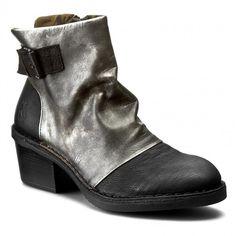 Magasított cipő FLY LONDON - Dapefly P210897005 Black/Ant.Silve