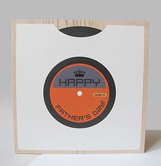 Vinyl Record Father's Day Card - cards & wrap