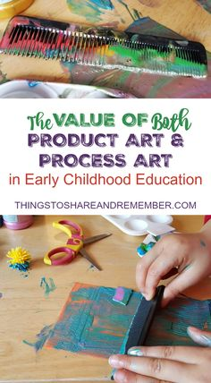 There are benefits and value in both product art & process art. Finding the balance in Early Childhood Education classroom.