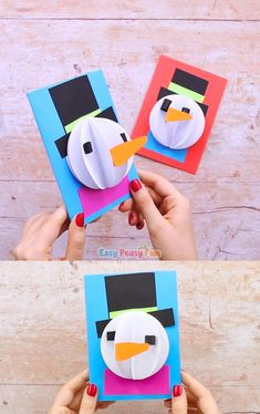 This sweet Paper Snowman Craft can be a great winter craft project to make with your kids as well as a fun Christmas card. This sweet Paper Snowman Craft can be a great winter craft project to make with your kids as well as a fun Christmas card. Kids Crafts, Christmas Crafts For Kids, Diy Crafts Videos, Christmas Fun, Holiday Crafts, Easy Crafts, Diy And Crafts, Christmas Cards, Christmas Activities
