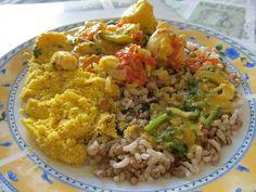 Moqueca de camarão e lagosta, 7grãos e farofa (Dezembro 2012)