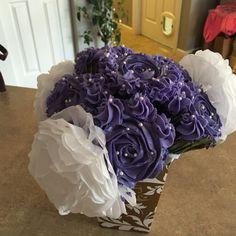 Rosette cup cake bouquet. 3/19/16