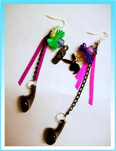 Recicled earrings - Aretes reciclados