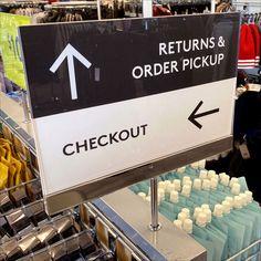 Retail Fixtures, Store Fixtures, Floor Graphics, Directional Signs, Slat Wall, Pick Up, Nordstrom Rack, Direction Signs