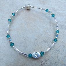 awar item, silver ribbon, braceletsterl silver, ovarian cancer, awar bracelet, cancer awareness, sterling silver, swarovski crystals, teal swarovski