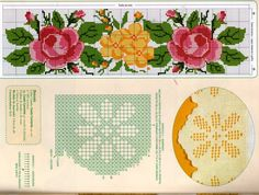 Gallery.ru / Фото #30 - 21 - geminiana Cross Stitch Borders, Cross Stitch Rose, Cross Stitch Flowers, Cross Stitching, F Pictures, Embroidery Patterns Free, Needlework, Charts, Towels