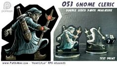 Print and play templates available on my patreon website. Cleric, Dungeons And Dragons, Gnomes, Miniatures, Templates, Play, Website, Paper, Rpg
