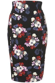 Highwaisted Floral Skirt - StyleSays