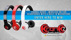 Krankz Audio - Win a Pair of Wireless On-Ear Headphones - http://sweepstakesden.com/krankz-audio-win-a-pair-of-wireless-on-ear-headphones/
