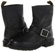 Dr. Martens Meg Biker Ankle Boot (Black Darkened Mirage) - Footwear on shopstyle.com