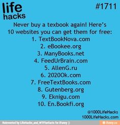 Websites with free textbooks